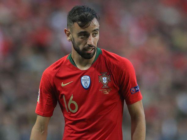 Bruno Fernandes on tuttu näky Portugalin maajoukkueesta.