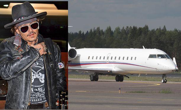 Johnny Depp viipyy Suomessa vain muutamien tuntien ajan.