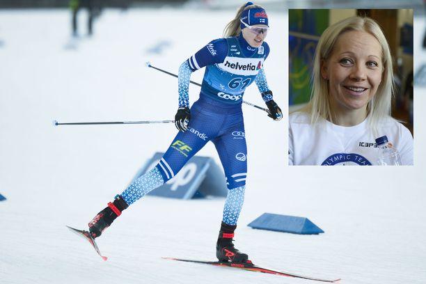 Vilma Nissinen sai Kaisa Mäkäräiseltä kannustusta Tour de Skillä.