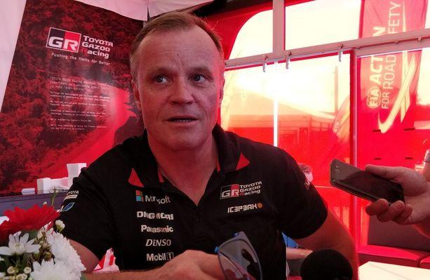Tommi Mäkinen kiisti Jyväskylässä keskustelleensa viime aikoina Kimi Räikkösen kanssa rallin ajamisesta.