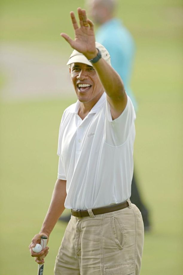 Presidentti Obaman vapaa-ajan tyylistä löytyy isällisiä elementtejä