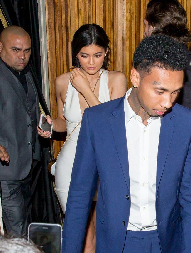 Kylie ja Tyga (edessä) kuvattiin yhdessä maanantaina.