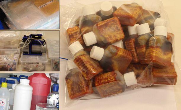 Tulli takavarikoi satojen tuhansien eurojen arvosta doping- ja lääkeaineita. Kuvassa oikealla laittomille markkinoille on päätyneitä testosteronia sisältäviä ampulleja.