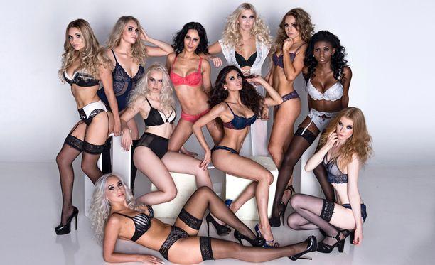 Miss Helsinki -finalistit poseerasivat upeissa alusvaatekuvissa.