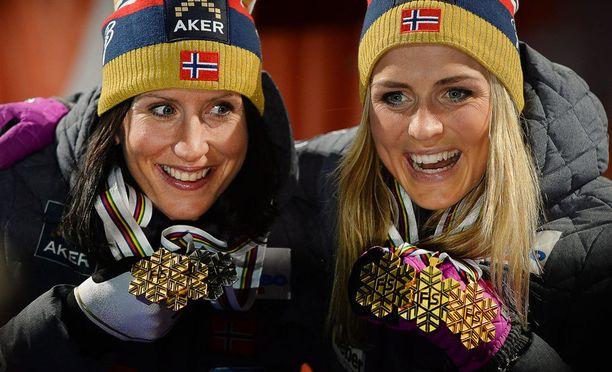 Dopingkäry ei vaikuttanut Marit Björgenin ja Therese Johaugin ystävyyteen.