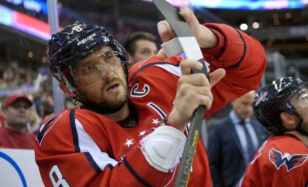 Aleksandr Ovetshkin on voittanut NHL:n maalikuninkuuden seitsemän kertaa.