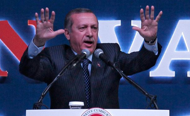 Pääministeri Recep Tayyip Erdogan.