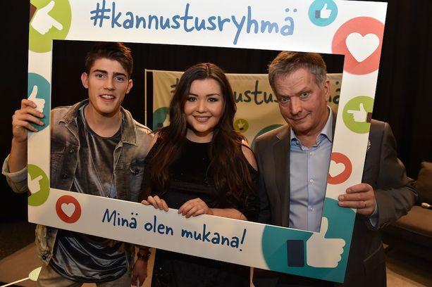 Robin, tasavallan presidentti Sauli Niinistö ja Diandra avasivat tiistaina #kannustusryhmä-nimisen kampanjan. Sen tavoitteena on tuoda esiin hyväksi koettuja kannustamisen keinoja, jotka saavat kiusaamisen loppumaan.