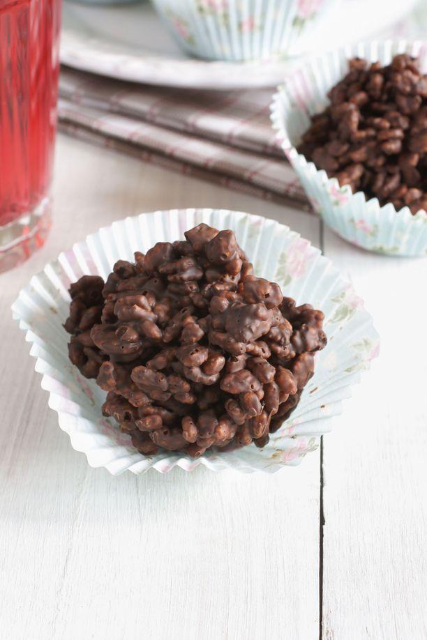 Riisimuroherkut voi annostella esimerkiksi muffinivuokiin.