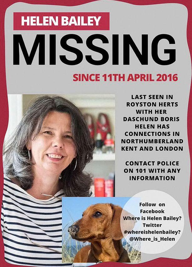 Baileyn kadottua häntä etsittiin myös julisteiden avulla.