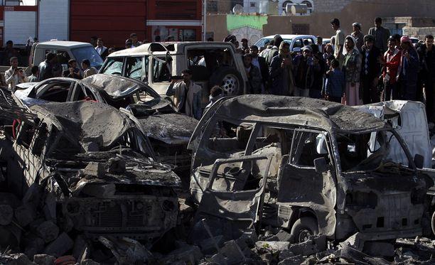 Jemenin pääkaupunki Sanaa on kokenut kovia Saudi-Arabian ilmaiskuissa.
