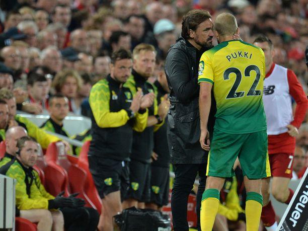 Norwich Cityn manageri Daniel Farke haluaa ehdottomasti pitää Teemu Pukin seurassa ensi kaudella.