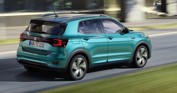 T-Crossissa on Poloa jämerämpi muoto. Auto on 5,5 senttiä pidempi, mutta vain reilun sentin korkeampi.