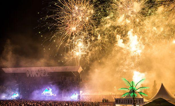 Weekend Festival yllättää tänä vuonna kävijänsä. Kuva vuodelta 2017.