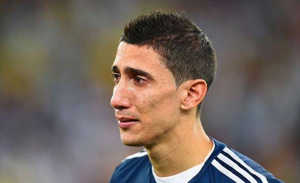 Ángel di Marían MM-turnaus päättyi kyyneliin. Keskikenttämies ei pelannut MM-finaalissa loukkaantumisen vuoksi.