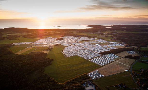 Näin komeissa maisemissa Suviseuroja vietettiin Pyhäjoella vuonna 2014. Tänä vuonna tapahtuma järjestetään Porissa.