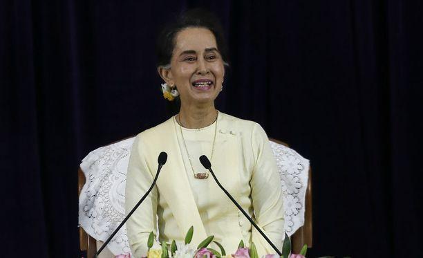 Aung San Suu Kyita on syytetty passiivisuudesta rohingya-kriisin aikana.