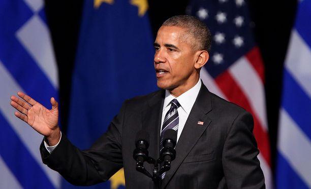 Yhdysvaltain väistyvä presidentti Barack Obama.