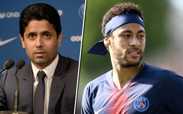 PSG:n seurapomon Nasser Al-Khelaifin lausunnot viittaavat siihen, että Neymarilla on lupa etsiä itselleen uusi osoite.