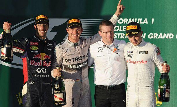 Andy Cowell pääsi Australian GP:n jälkeen palkintopallille kuskien seuraksi.