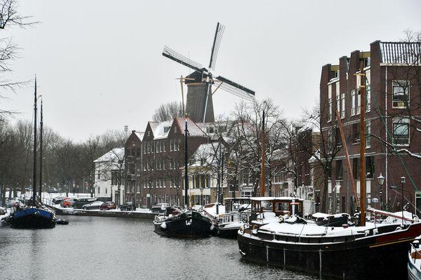 Alankomaat on saanut osansa lumisista talvisäistä.