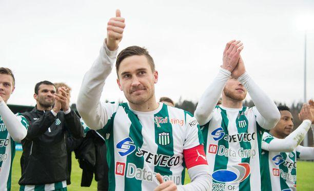 Ilari Äijälä ampui KTP:lle tasapelin arvoisen maalin Kisapuistossa FC Lahtea vastaan.