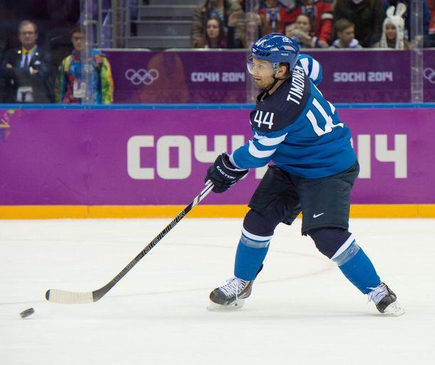 Monivuotinen maajoukkuepelaaja antaa ison arvon Leijonien yllättävälle maailmanmestaruudelle. Kuva Sotshin olympialaisista 2014.