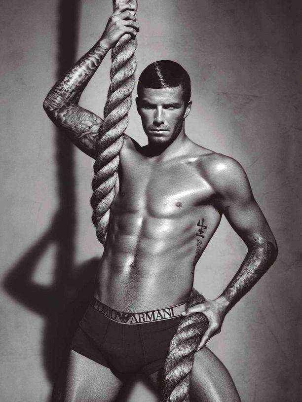 Beckham teki alusvaatekuvauksia myös Emporio Armanille.