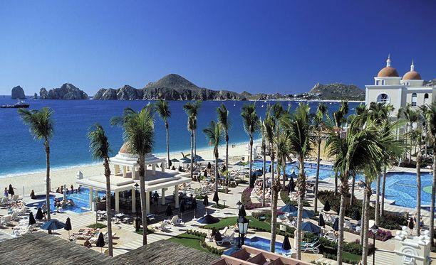 Santa Maria Bayn ranta Meksikon tunnetussa turistikohteessa Cabo San Lucasissa.