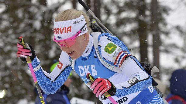 Kaisa Mäkäräisen maailmancupin kautta on jäljellä enää yksi kilpailu: sunnuntain yhteislähtö Oslossa.