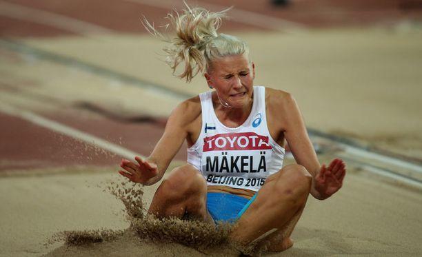 Kristiina Mäkelä on mukana EM-finaalissa sunnuntaina. Kuvan Pekingin MM-kisoista.
