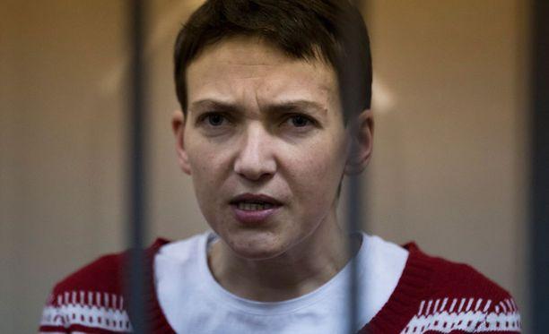 Nadja Savtshenko oli syömälakossa viime keväänä vastalauseena vangitsemiselleen. Tuolloin syömälakko kesti yli 80 päivää.