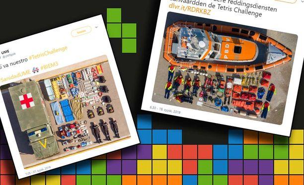Tetristä voi pelata tietokonepelin palikoilla ja vaikkapa Puolustusvoimien lääkintäauton välineistöllä.