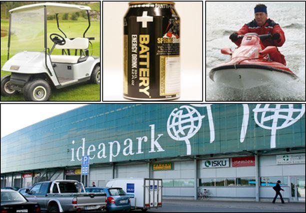 Golfauto, energiajuoma, vesiskootteri, Ideapark vai joku muu, mikä on mielestäsi vuoden turhake?
