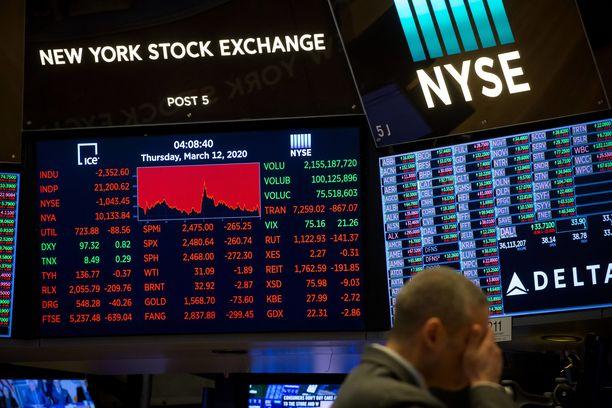 Pörssikurssit olivat punaisella maanantailla.