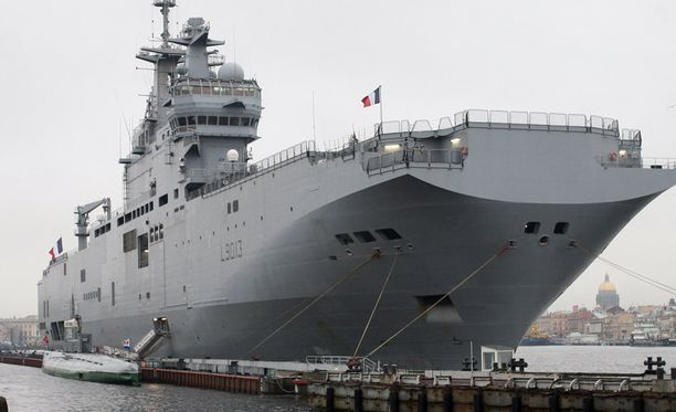 Mistral-alus kuvattiin Pietarin-vierailulla.