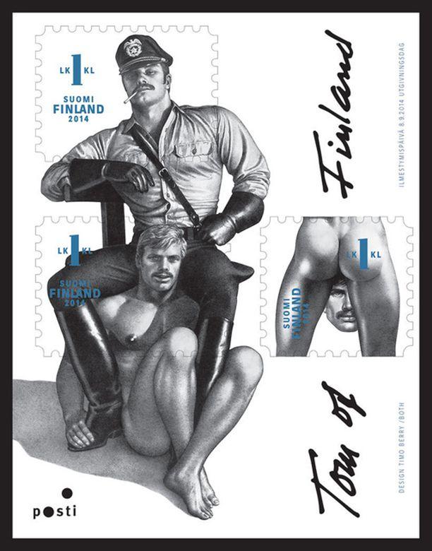 Tom of Finland -postimerkkejä on kiitelty maailmalla.