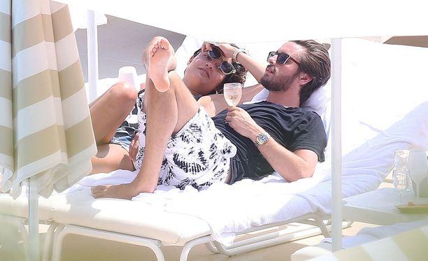 Scott ja Chloe viihtyivät läheisissä tunnelmissa viime torstaina Monte Carlossa Monacossa.