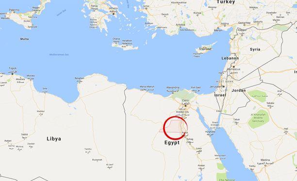 BBC:n mukaan hyökkäys tapahtui Minyan maakunnassa, noin 250 kilometriä maan pääkaupungista Kairosta etelään.