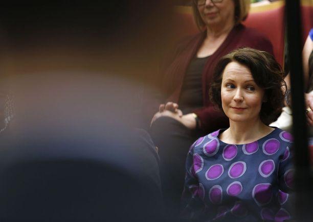 Rouva Jenni Haukio on toiminut Turun kirjamessujen ohjelmapäällikkönä vuodesta 2012. Kuva vuodelta 2014.