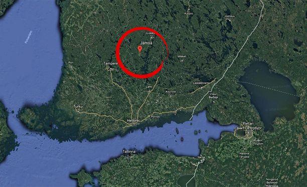 Jämsänkosken paperitehdas sijaitsee Jämsänkosken keskustan eteläpuolella.