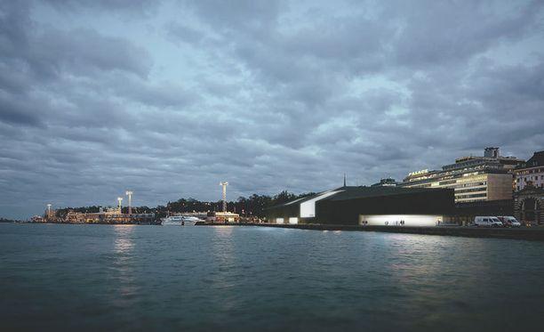Ehdotus 4 muuntaa sataman länsi- ja itärannat taloudellisen ja kulttuurisen toiminnan keskukseksi, jossa museo toimii linkkinä kaupungin ja satama-alueen välillä. Käsitys rakennuksesta staattisena objektina on vaihtunut ihmisten arjen mukana elävään ja muuttuvaan rakennukseen.