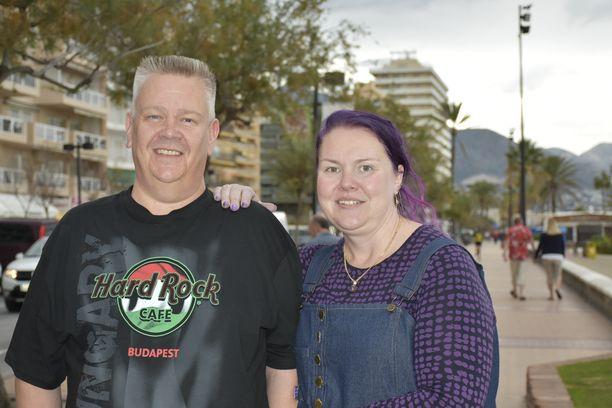 Aki ja Heli Palsanmäki viettivät syksyn Espanjassa.