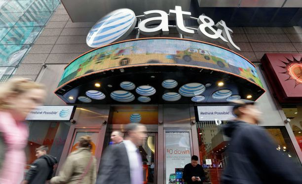 AT&T:n kauppa New Yorkin Times Squarella.