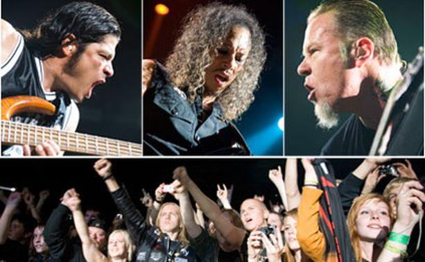METALLICA LOISTI Metallica tarjosi eilisillan konsertissaan nannaa suomalaisyleisölle uusien ja vanhojen biisien kombinaatiolla, jota yleisö rakasti raivoisasti.