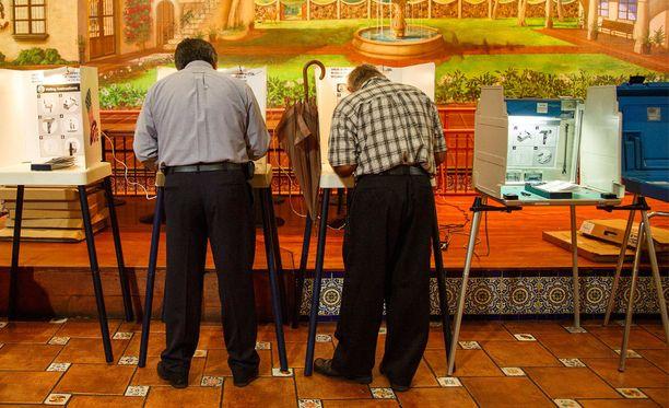 Los Angelesin alueella äänestettiin muun muassa meksikolaisessa ravintolassa.