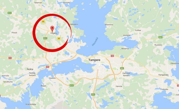 Tapahtumapaikka oli Ylöjärven Soppeenmäen Koulutiellä sijaitseva yksityisasunto.