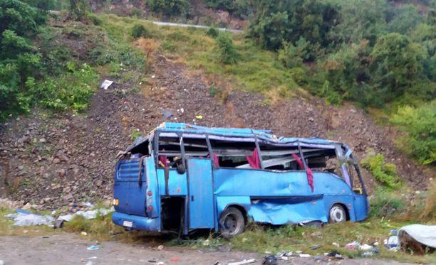 Bulgarian sisäministeriö on julkaissut kuvan onnettomuusbussista.