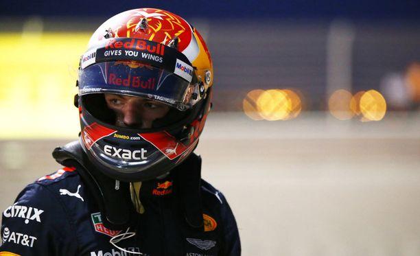 Max Verstappenin GP Bahrainissa päättyi keskeytykseen.