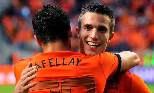 Robin van Persie on oranssipaitaisen Hollannin ykköstykki.